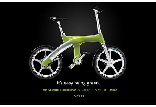 The Mando Footloose IM Chainless Electric Bike