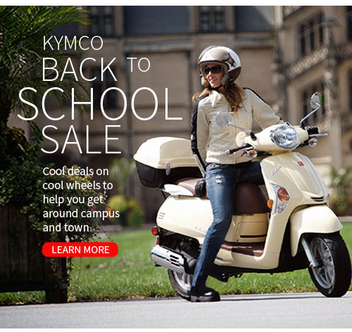 Best Wheels for Campus - KYMCO Back to School Sale